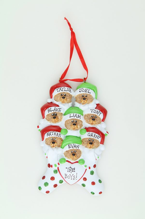 Bear Stockings - Family of 8