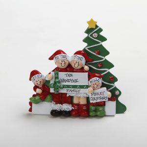 Christmas Morning Tabletop - Family of 4