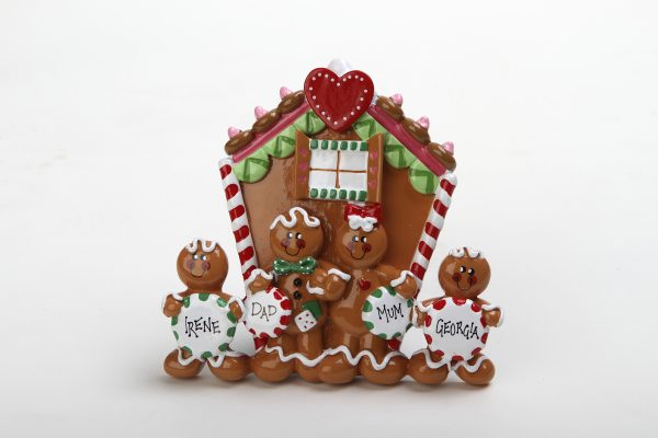 Gingerbread Tabletop - Family of 4
