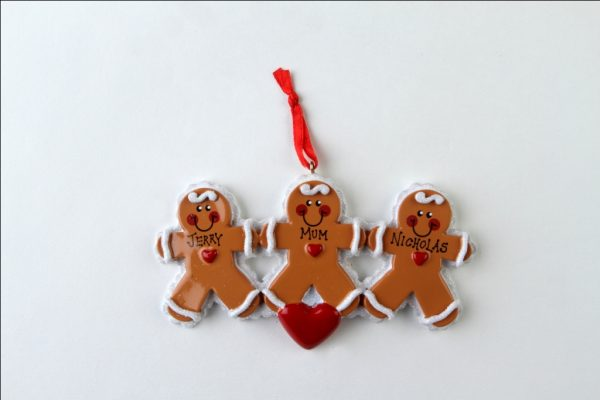 Gingerbread Family of 3