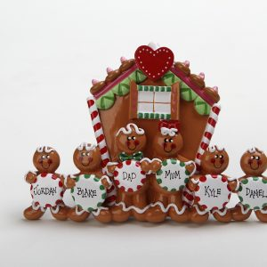 Gingerbread Tabletop - Family of 6