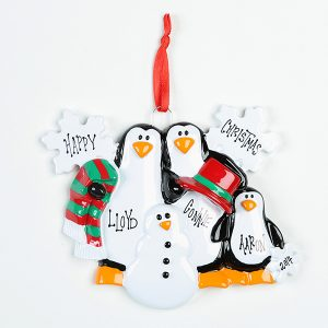 3 Penguins Making Snowman
