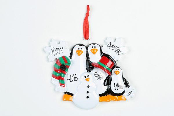 3 Penguins Making Snowman