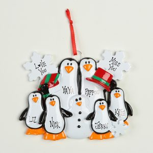 6 Penguins Making Snowman