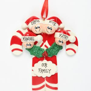 Candy Canes - Family of 4