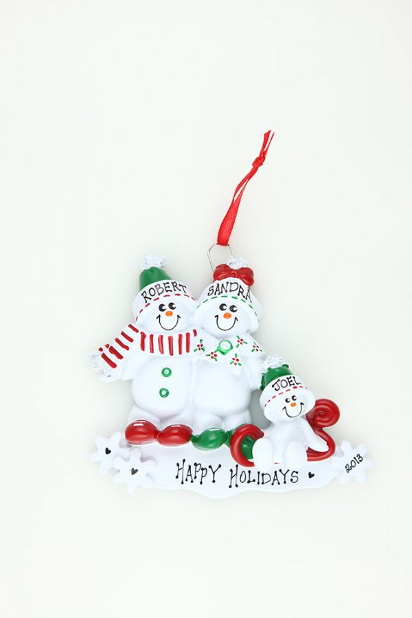 Snowman Sled - Family of 3