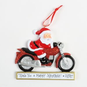 Santa on his big red motorcycle!