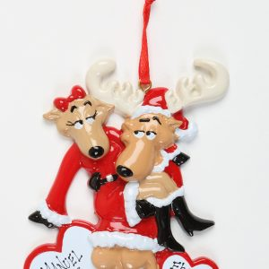 Santa Deer Couple