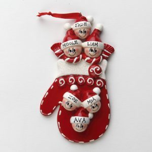 Red Mitten Family of 6