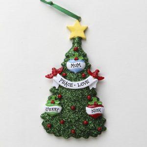 Green Glitter Christmas Tree 3