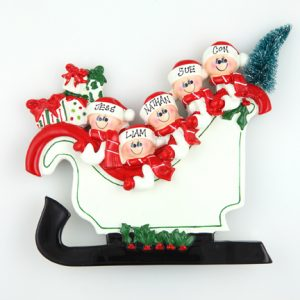 Santa Sleigh Tabletop – Family of 5