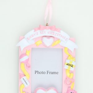 Baby's 1st Christmas Photo Frame in Baby Pink