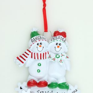Snowman Sled Couple