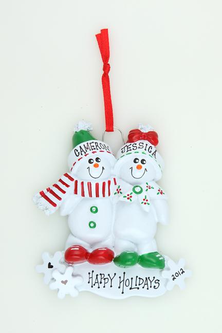 Snowman Sled Couple