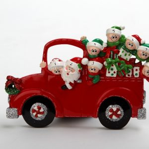Santa & Mrs Claus Christmas Car Tabletop - Family of 8