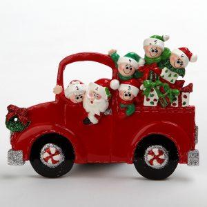 Santa & Mrs Claus Christmas Car Tabletop - Family of 6