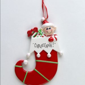 Single Elf in Stocking