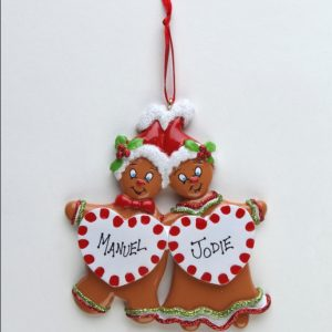 Sweet Gingerbread Couple - 2 Hearts * * SOLD OUT * *