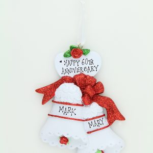 Wedding Bells - Red Glitter Bows