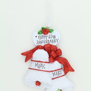 Wedding Bells - Red Glitter Bows