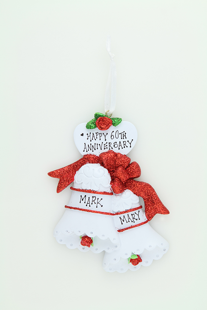Wedding Bells - Red Glitter Bows - Mad About Christmas