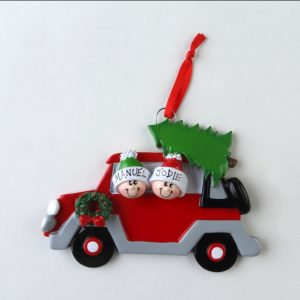 Christmas Car Couple - Family of 2