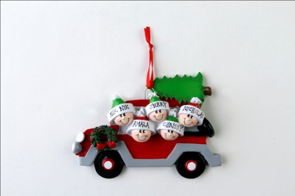 Christmas Car - Family of 5